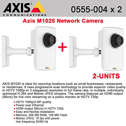 AXIS M1025 2-PACK- 0555-004 HDTV 1080p Camera with HDMI and edge storage PoE