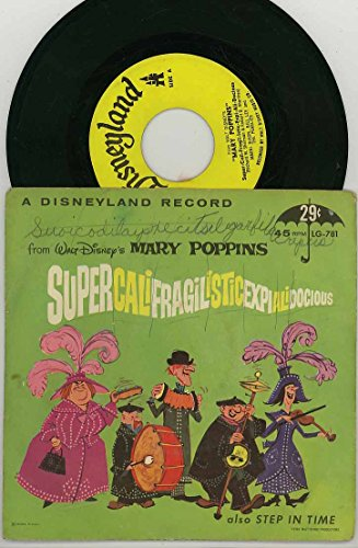 Walt Disney's Mary Poppins 45rpm Little Gem Record LG-781 - Supercalifragilisticexpialidocious & Step In Time