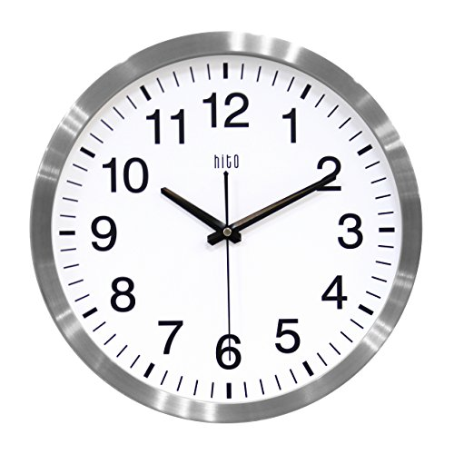 hito Silent Wall Clock Non Ticking 14 inch Large Oversized E
