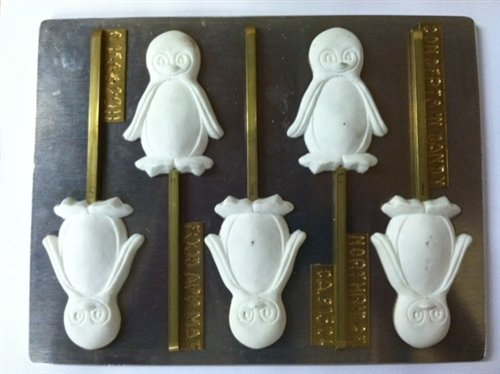 Penguin lollipop C159 Christmas Chocolate Candy Mold ()