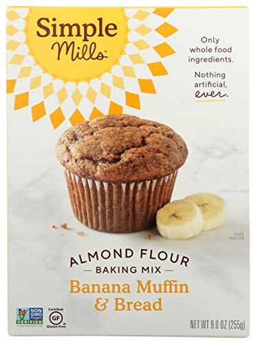 Simple Mills Almond Flour Baking Mix, Gluten Free Banana Bread Mix, Muffin Pan Ready, Made with whole foods, (Packaging May Vary), 9 Ounce 2