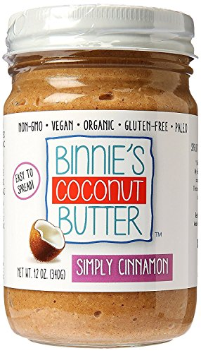 Binnie's Coconut Butter Organic Spread - Simply Cinnamon (12 (Coconut Pecan Cake)