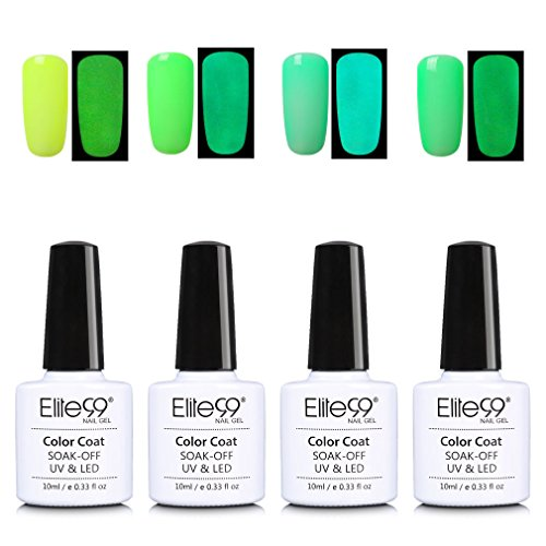 Elite99 Glow in The Dark Gel Nail Polish Set Soak Off UV LED