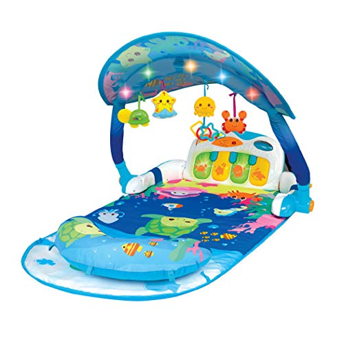Winfun Magic Lights and Musical Play Gym, Blue