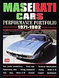 Maserati Cars Performance Portfolio 1971-1982, R.M. Clarke, 1855206005