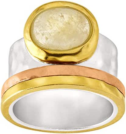 Silpada 'Metallic Mix' Brass, Citrine, Copper, and Sterling Silver Ring