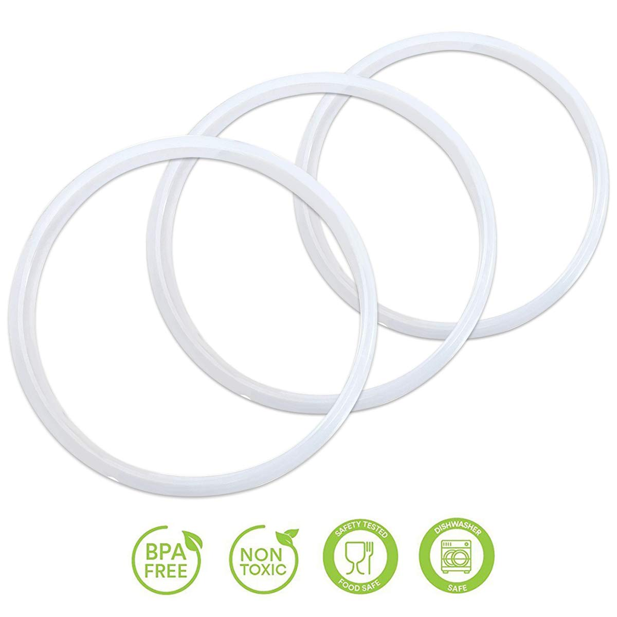 3 Pack Instant Pot 6 Quart and Crock Pot Express Multi-Cooker Sealing Ring Gaskets- Clear Color