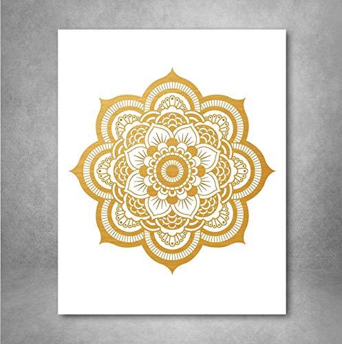 Gold Foil Art Print - Mandala Gold Foil Print Design 8x10 ()