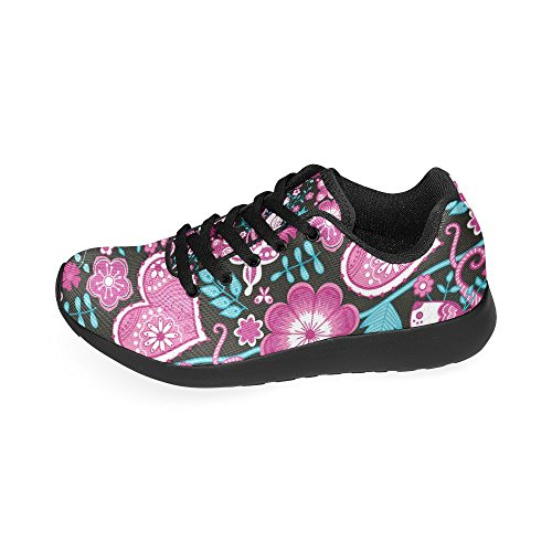 36 Pattern on Shoes Womens Athletic Auto Zenzzle Licence Flowers red Lightweight Sneakers Color2 Print 45 Running Retro Purple Plates Casual Size 7UZZx