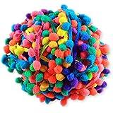 Yalulu 20Yards Rainbow Pom Pom Trim Ball Fringe Ribbon DIY Sewing Accessory Lace For Home Party Decoration