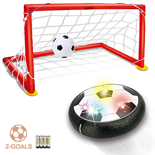 Kids Toys Hover Soccer Ball - LED Air Power Soccer Set with 2 Goals and an Inflatable Ball, Indoor Outdoor Sport Ball Training Games, Soccer Toys for 2 3 4 5 6 7 8- 12 Year Old Boy Girl Best Gifts ()