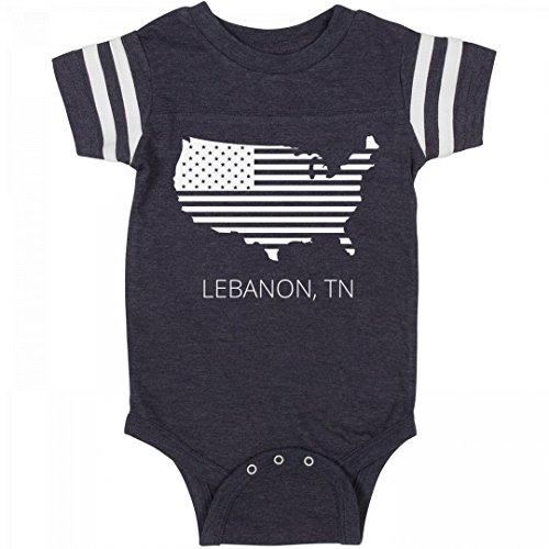 FUNNYSHIRTS.ORG July 4th USA Lebanon, TN Pride: Infant Rabbit Skins Football - Lebanon Usa City