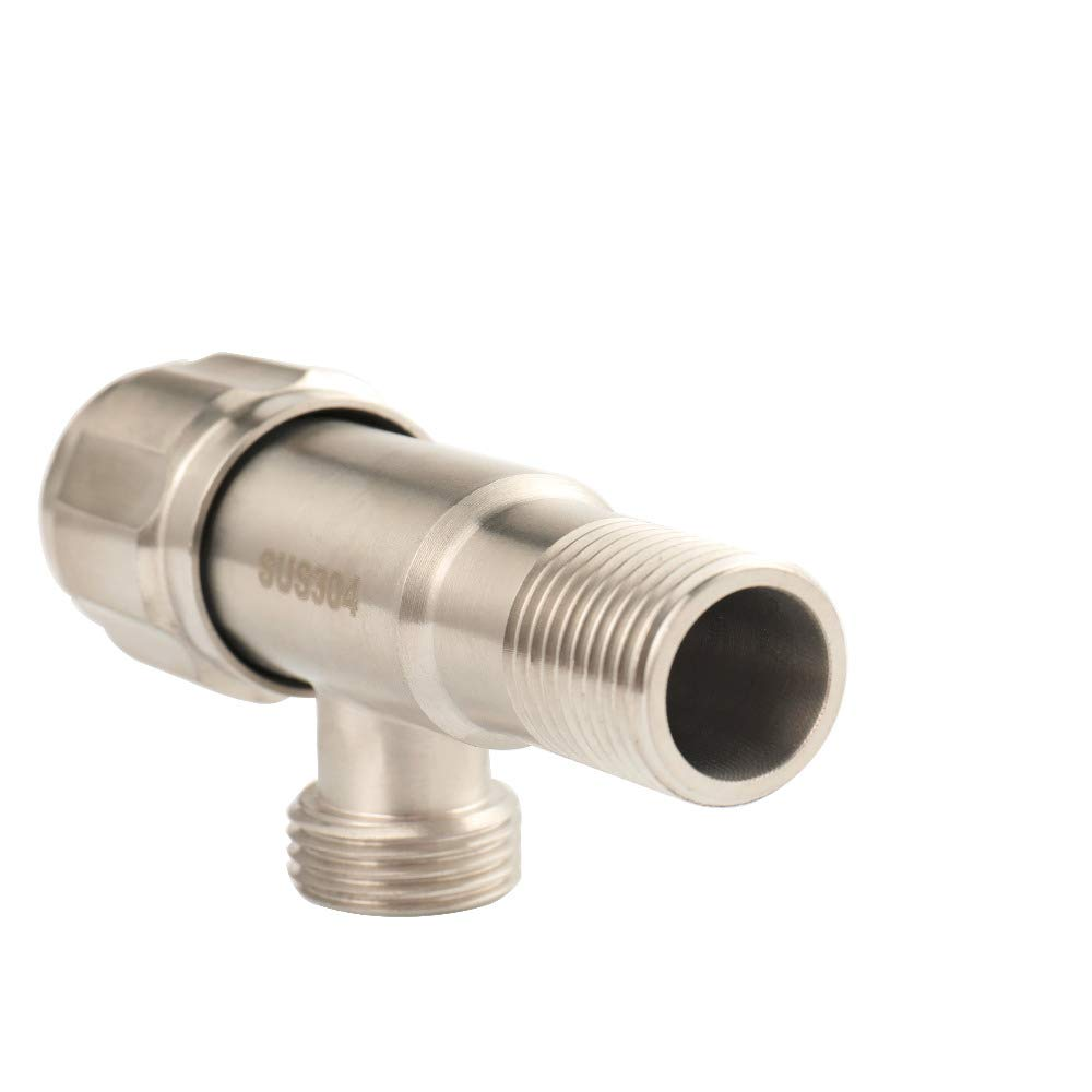 Taco Mocho Water Angle Valve Toilet 304 Stainless Steel Brushed for Toilet Sink Basin Water Heater Kitchen Bathroom Accessories GX Diffuser
