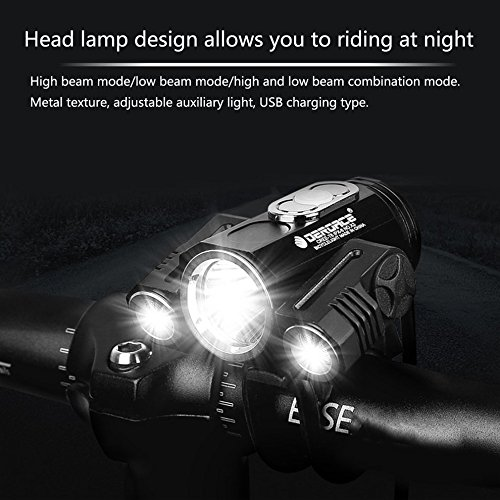 Adjustable Bicycle Headlight USB 3 Mode X3 T6 LED Bike Cycling Front Lamp by CLKJYF