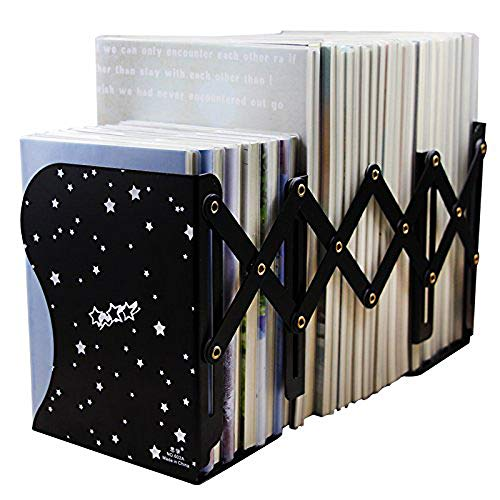 Aeehfeng Decorative Metal Bookends - Heavy Duty & Adjustable Modern Design with Non-Skid Base