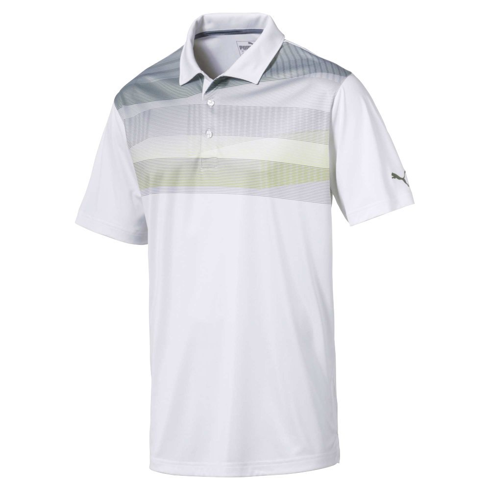 PUMA 577406 PWR Cool Refraction Polo Shirt, Small, Pomegranate ...