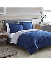 Casa Platino Comforter Set - Down Alternative Comforter with Pillow Shams - All Season Machine Washable Reversible Bedding Comforter Set - Super Soft Microfiber