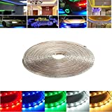 10M 35W Waterproof IP67 SMD 3528 600 LED Strip Rope Light Christmas Party Outdoor AC 220V (Random: Color)