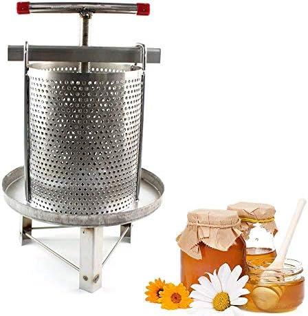 ステンレス鋼家庭用手動蜂蜜プレスワックスプレス養蜂ツールシルバー