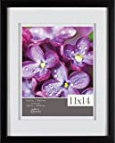 GALLERY SOLUTIONS 11x14 Black Wood Wall Frame with 8x10 White Double Mat Opening #05FW1581