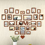 ZGP Home@Wall photo frame Living Room Heart Photo Wall Wall-mounted Frame Wall-mounted Assembly European Decoration Creative Love Bedroom Photo Frame (Color : A)