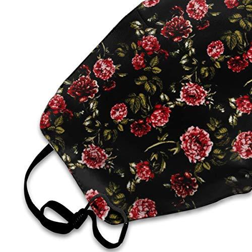 Face Masks, Breathable Dust Filter Masks Medical Mask Mouth Cover Masks with Elastic Ear Loop (Rose Black)
