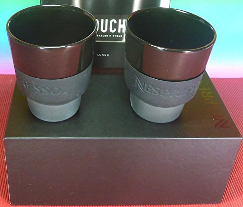 Nespresso 2 Touch Espresso Cups In Black Porcelain & Soft-Touch Silicone , In Brand Box , By Berlin Design studio Geckeler Michels,New by Nespresso
