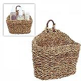 6.5 Inch Handmade Weave Hanging Storage Basket / Multipurpose Small Indoor Display Bin, Brown