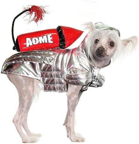 Disfraz de perro, Acme disfraz de Rocket de plata con gran rojo ...