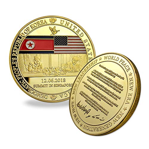 Indeep Donald Trump Gold Commemorative Coin 2018 Political Gift Presidential Challenge Coin Collectible