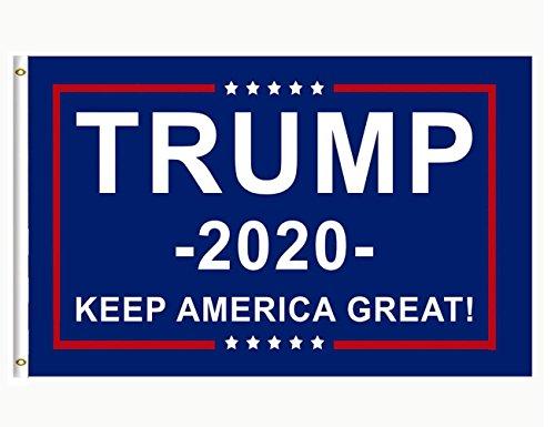 DFLIVE AFlag Donald Trump President 2020 Keep America Flag 3x5 Fee, Blue