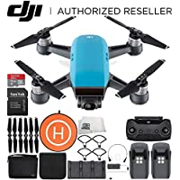 DJI Spark Portable Mini Drone Quadcopter Fly More Combo Landing Pad Bundle (Sky Blue)