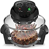 Upgraded 2018 Air Fryer Convection Oven - Countertop Roaster Oven, Bake, Grill, Broil Function Roast Includes Glass Bowl, See how the Food Is Cooking Broil Racks Included 120V NutriChef (PKCOV45)