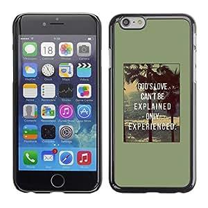 """For Apple Apple iPhone 6 / 6S (4.7 inches!!!) Plus / 6S Plus ( 5.5 ) Case , Texto Cita de motivación de Dios amor impresiones"""" - Diseño Patrón Teléfono Caso Cubierta Case Bumper Duro Protección Case Cover Funda"""