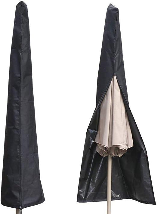 POAO Funda para Parasol, Impermeable Resistente al Agua al Aire Libre Patio, Parasol de Cremallera, para diámetro 3 m parasoles, Negro 600d Oxford Tela, Bolsa de Almacenamiento con Cremallera: Amazon.es: Jardín