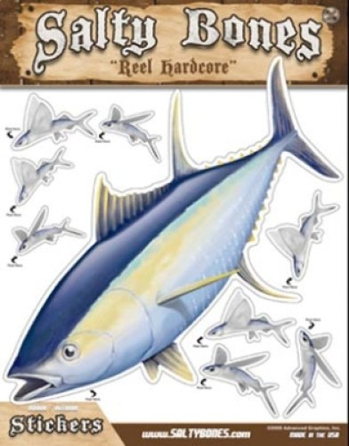 13.5-Inches by 10.5-Inches Salty Bones BMEG4006 Large Tuna Action Decal