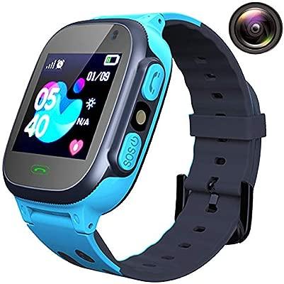 Smartwatch Niños Relojes Telefono - Reloj Inteligente Niños AGPS LBS Tracker, Reloj Inteligente Niña de Cámara Alarma SOS Llamadas Linterna, Reloj ...
