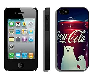 Hot Sale iPhone 4 4S Screen Cover Case With Coca Cola Winter Edition Android Wallpaper Black iPhone 4 4S Case Unique And Beautiful Designed Phone Case