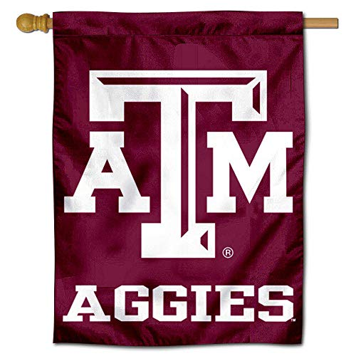 (College Flags and Banners Co. Texas A&M Aggies Banner House Flag)