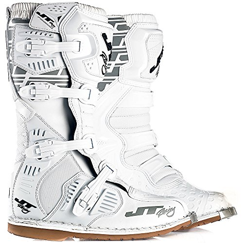 JT Racing 2018 Podium Boots (11) (WHITE) from JT Racing USA