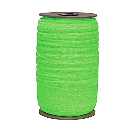 100 Yards - Neon Green - 5/8'' Fold Over Elastic - ElasticByTheYard by ElasticByTheYard