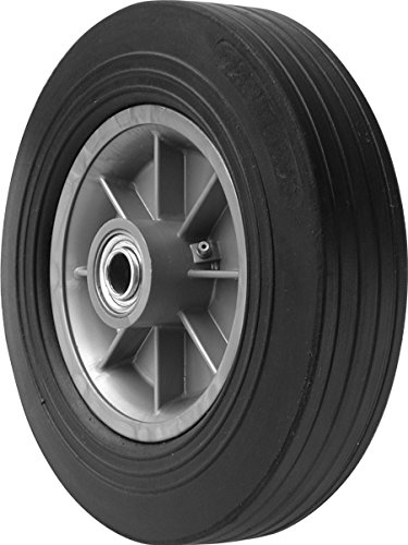 Shepherd Hardware 9602 10-Inch Hand Truck Replacement Wheel, Solid Rubber, 2-1/2-Inch Ribbed Tread, 5/8-Inch Bore Offset Axle