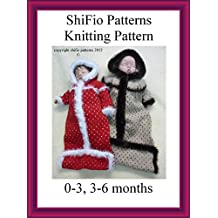 Knitting Pattern - KP232 - Sleepingbag - 0-3mths, 3-6mths