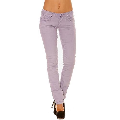 Miss Wear Line - Pantalón - Ajustada - para mujer Morado morado