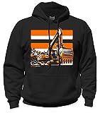 SafetyShirtz Excavator Safety Hoody Black w/ Orange M