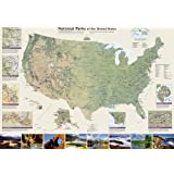 National Parks of the United States [Tubed] (National Geographic Reference Map)