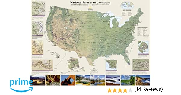 Us Map Pi Globalinterco - Wall map of us national parks