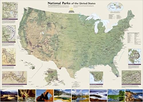 U. S. National Parks Wall Map: National Geographic Maps - Reference ...