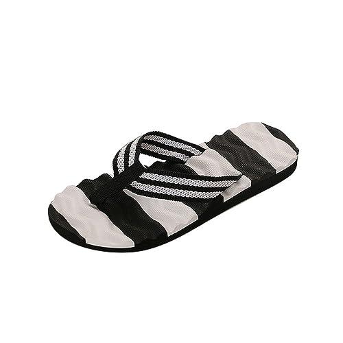 Topgrowth Sandali Bambino Ragazzo Ragazza Cuoio Suola Morbida Sneaker Casual Spiaggia Chiusa Sandali Unisex per bambini (25, Nero)