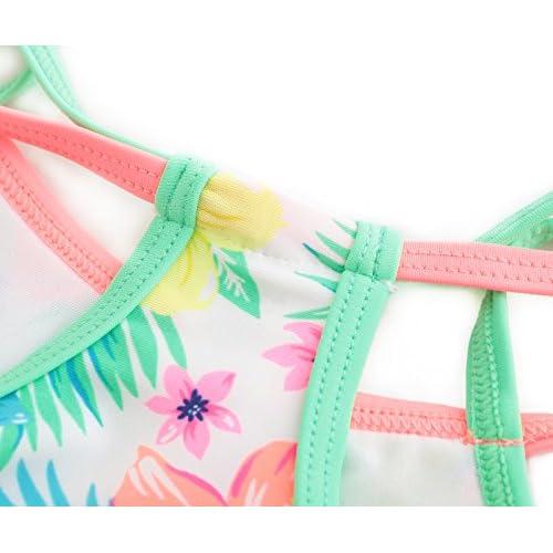 HowJoJo Girls Two Piece Tankini Swimsuit Floral Ruffle Swimwear Beach Bathing Suit Set